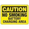 Caution No Smoking Battery Charging Area - Battery Charging Signs