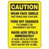 Caution Battery Charging Rules  - Battery Charging Signs