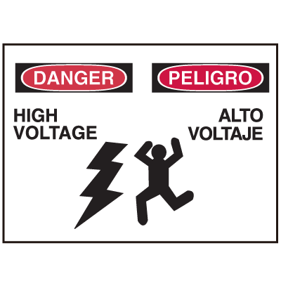Danger/Peligro Sign - High Voltage/Alto Voltaje