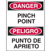 Bilingual Hazard Warning Labels - Danger Pinch Point