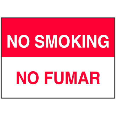 Bilingual No Smoking Sign - English/Spanish