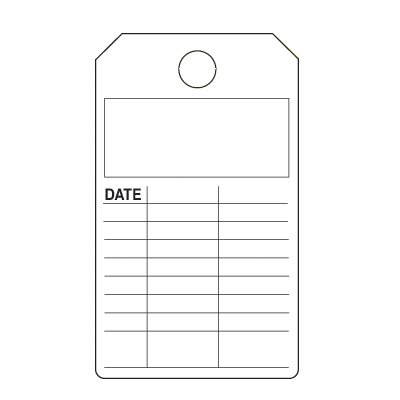 Blank Lined Production Status Tags
