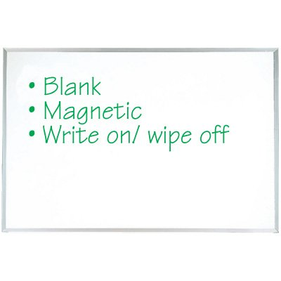 Blank Write-On Magnetic Boards
