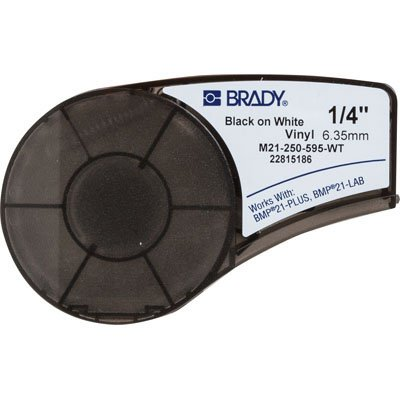 Brady M21-250-595-WT BMP21 Plus Label Cartridge - Black on White