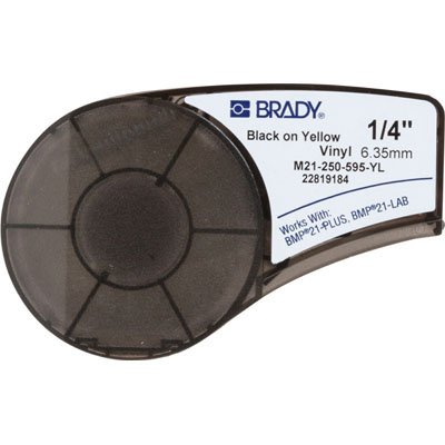 Brady M21-250-595-YL BMP21 Plus Label Cartridge - Black on Yellow