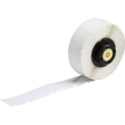 BMP®71 TLS 2200® Series ToughBond® Label: Polyester, White, 0.6 in H x 0.375 in W