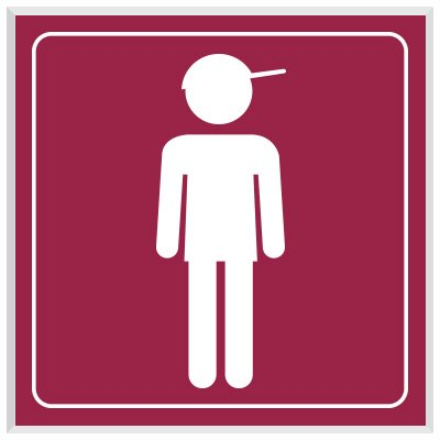 Boy Symbol - Engraved Graphic Restroom Signs