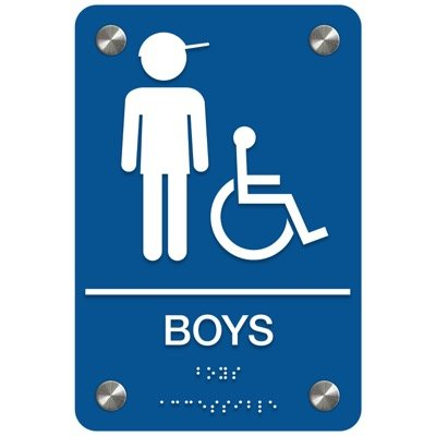 Boys (Accessibility) - Premium ADA Restroom Signs