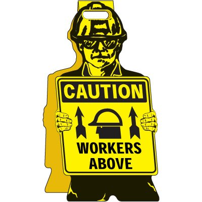 Caution Workers Above - Floor Stand