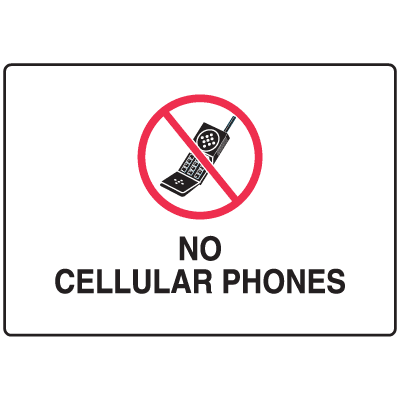 Cell Phone Notice Signs - No Cellular Phones