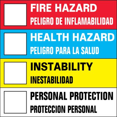 Chemical Hazard Label
