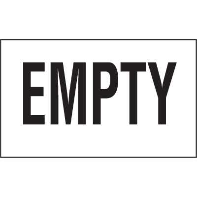 Chemical Label Value Packs - Empty
