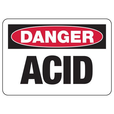 Chemical & HazMat Signs - Danger Acid