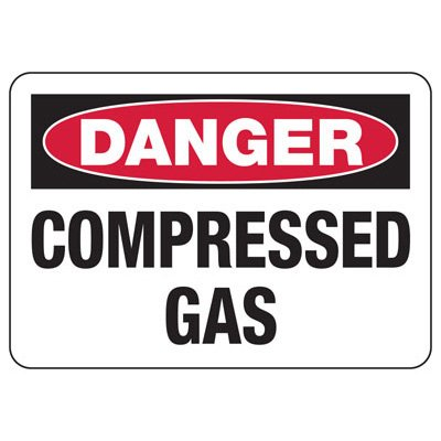 OSHA Danger Signs - Compressed Gas