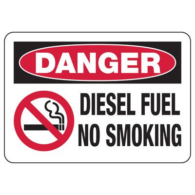 Chemical & HazMat Signs - Diesel Fuel No Smoking