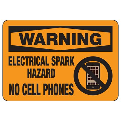 Warning Electrical Spark Hazard - Chemical Warning Sign
