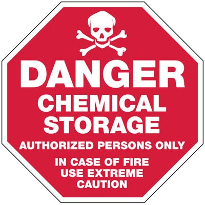 Danger Chemical Storage - Chemical Warning Sign