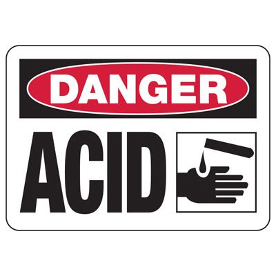 Danger Acid (Graphic) - Industrial Chemical Warning Sign