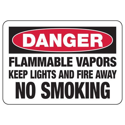 Danger Flammable Vapors - Industrial Chemical Warning Sign