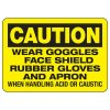 Caution Wear Goggles - Industrial Chemical Warning Sign