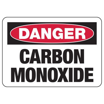 Danger Carbon Monoxide - Industrial Chemical Warning Sign