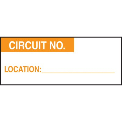 Circuit Number Status Labels