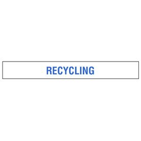 Clear Floor Tape Labels - Recycling