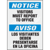 Clear Security Labels - Notice Visitors Must Report to Office