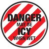 Anti-Slip Floor Markers - Danger May Be Icy When Wet