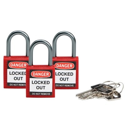 Brady® Keyed Alike High Performance Nylon Padlock