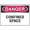 Danger Confined Space Label