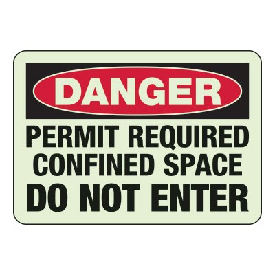 Permit Required Confined Space - Industrial OSHA Machine Hazard Sign