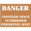 Confined Space Stencils - Danger - Authorized Personnel Only