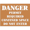 Confined Space Stencils - Danger - Permit Required Do Not Enter