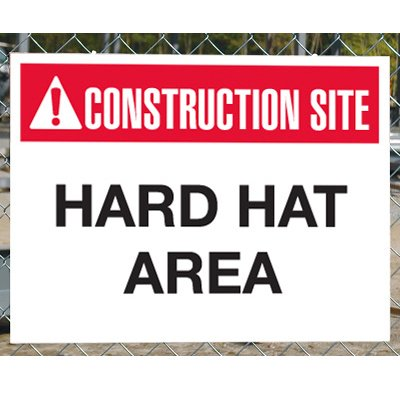 Construction Site Safety Signs - Hard Hat Area