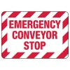 Emergency Conveyor Stop  - Industrial Conveyor Signs