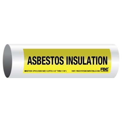 CPVC-Code™ Pipe Markers - Asbestos Insulation