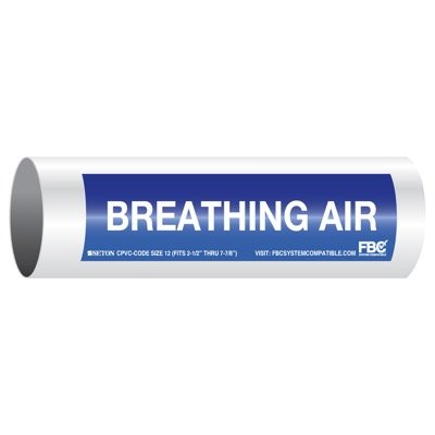 CPVC-Code™ Pipe Markers - Breathing Air