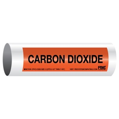 CPVC-Code™ Pipe Markers - Carbon Dioxide