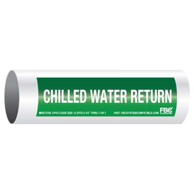 CPVC-Code™ Pipe Markers - Chilled Water Return