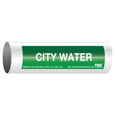 CPVC-Code™ Pipe Markers - City Water