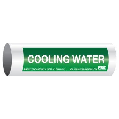 CPVC-Code™ Pipe Markers - Cooling Water