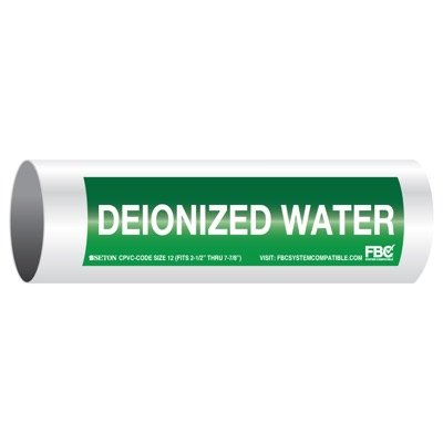 CPVC-Code™ Pipe Markers - Deionized Water