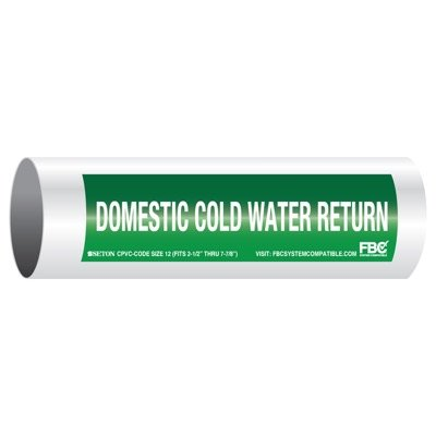 CPVC-Code™ Pipe Markers - Domestic Cold Water Return