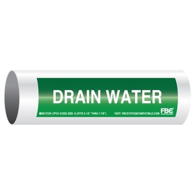 CPVC-Code™ Pipe Markers - Drain Water