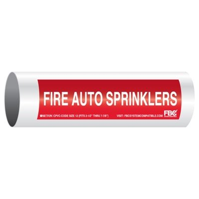 CPVC-Code™ Pipe Markers - Fire Auto Sprinklers