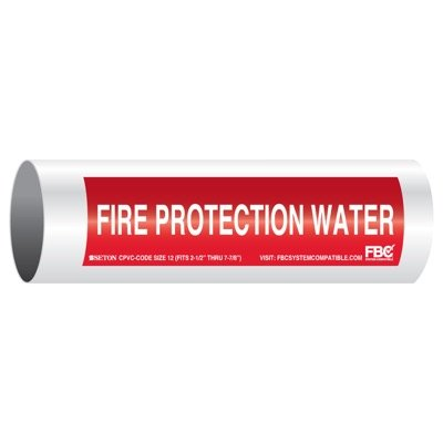 CPVC-Code™ Pipe Markers - Fire Protection Water