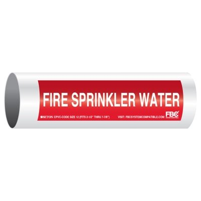 CPVC-Code™ Pipe Markers - Fire Sprinkler Water