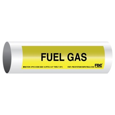 CPVC-Code™ Pipe Markers - Fuel Gas