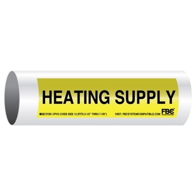 CPVC-Code™ Pipe Markers - Heating Supply